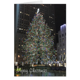 Merry Christmas Rockefeller Center NYC Xmas Tree Card