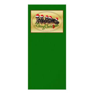 Merry Christmas Rottweiler Puppies Customized Rack Card