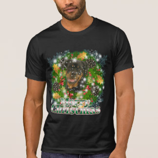 Merry Christmas Rottweiler T-Shirt
