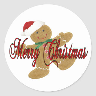 Merry Christmas Round Sticker