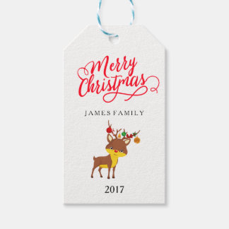 Merry Christmas rudolph the red nosed reindeer Gift Tags