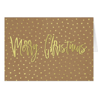 Merry Christmas Rustic Gold Card