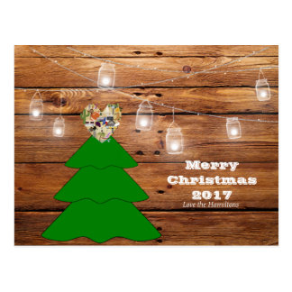 Merry Christmas Rustic Texas Postcard