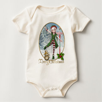 Merry Christmas Sadie Elf Baby Shirt