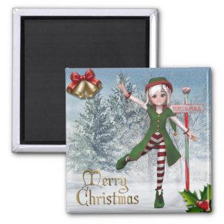 Merry Christmas Sadie Elf Magnet