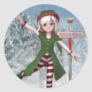 Merry Christmas Sadie Elf Sticker