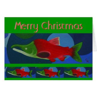 Merry Christmas Salmon Card