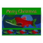 Merry Christmas Salmon Cards