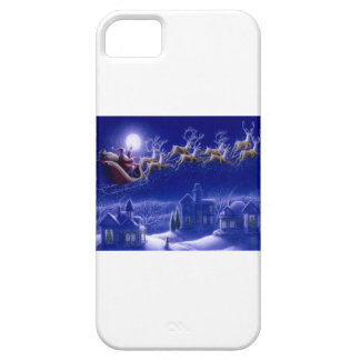 Merry Christmas Santa and His Sleigh iPhone 5 Cases