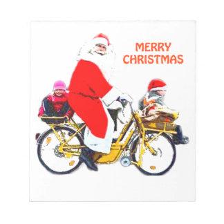 Merry Christmas Santa and Kids Notepad