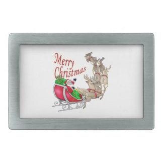 Merry Christmas Santa Belt Buckles