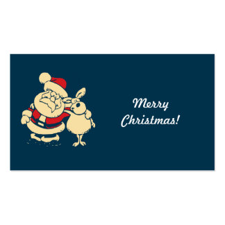Merry Christmas Santa Double-Sided Standard Business Cards (Pack Of 100)