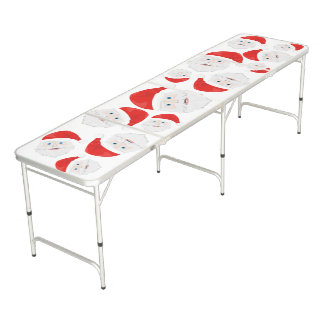 Merry Christmas Santa Claus Beer Pong Table