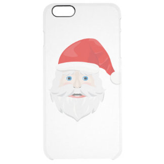 Merry Christmas Santa Claus Clear iPhone 6 Plus Case