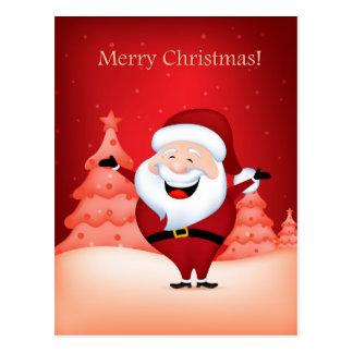 Merry christmas santa claus greeting card