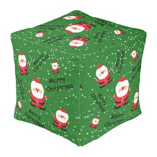 Merry Christmas Santa Claus Pouf