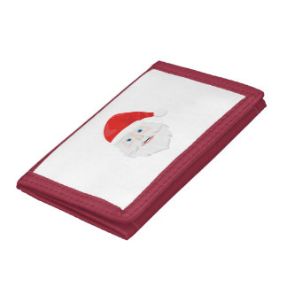 Merry Christmas Santa Claus Trifold Wallet