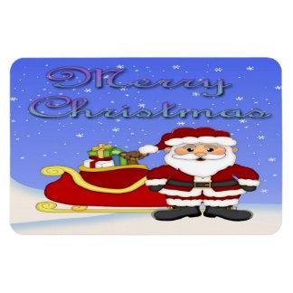 Merry Christmas Santa Flex Magnets