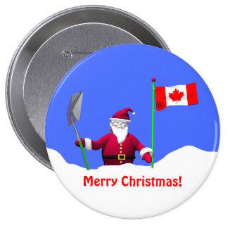 Merry Christmas Santa in Canada Pin