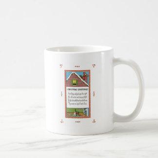 Merry Christmas Santa on the Chimney Coffee Mugs