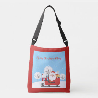 Merry Christmas santa personalized tote bag
