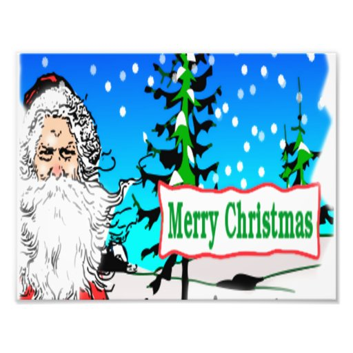 Merry Christmas Santa Photo Print