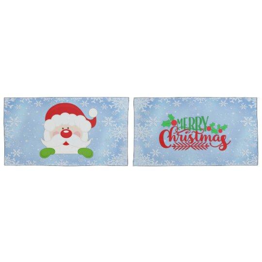 Merry Christmas Santa Pillowcase