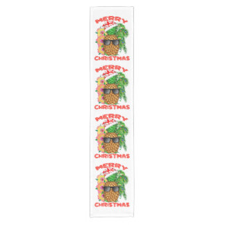 Merry Christmas Santa Pineapple Short Table Runner