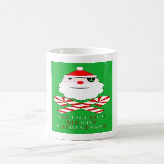 merry christmas santa pirate coffee mug