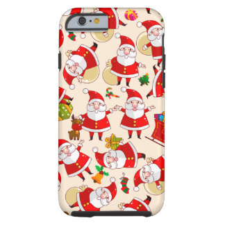 Merry Christmas Santa Red Gold Tough iPhone 6 Case