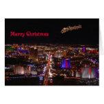 Merry Christmas Santa & Reindeers Las Vegas Card