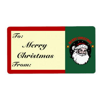 Merry Christmas Santa Shipping Label