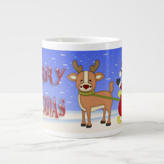 Merry Christmas Santa Specialty Mugs 20 Oz Large Ceramic Coffee Mug