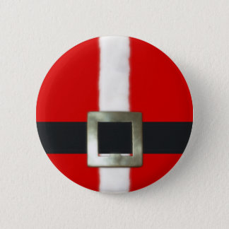 Merry Christmas Santa Suit Button