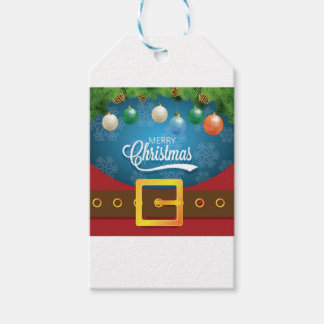 Merry Christmas Santa Suit Gift Tags