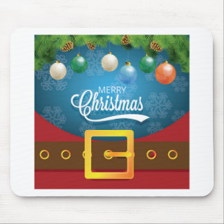 Merry Christmas Santa Suit Mouse Pad