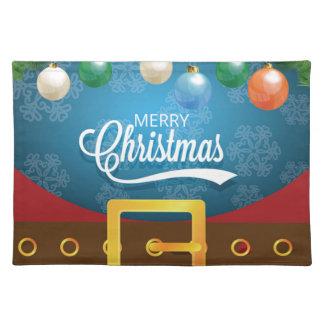 Merry Christmas Santa Suit Placemat