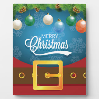 Merry Christmas Santa Suit Plaque