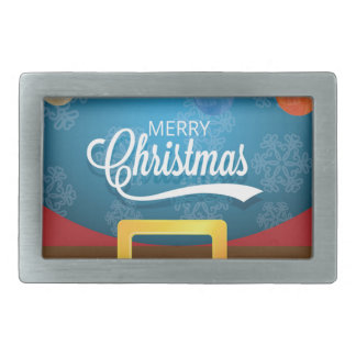 Merry Christmas Santa Suit Rectangular Belt Buckles