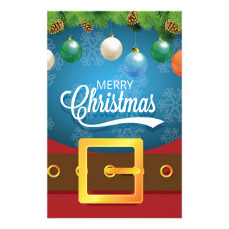 Merry Christmas Santa Suit Stationery