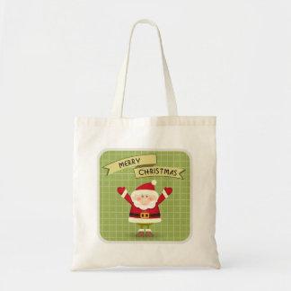 Merry Christmas Santa Tote Budget Tote Bag