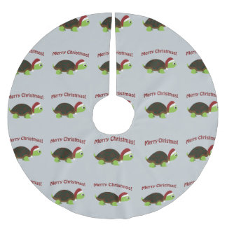 Merry Christmas! Santa Turtle Brushed Polyester Tree Skirt