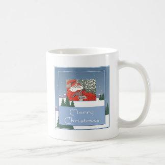 Merry Christmas - Santa With Christmas Pudding Coffee Mug