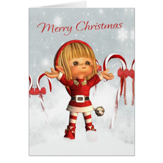 Merry Christmas - Santa's Little Helper - Elf Greeting Card
