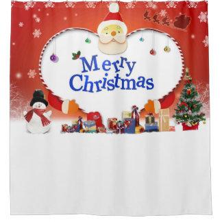 Merry Christmas Santa's Love Shower Curtain