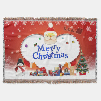 Merry Christmas Santa's Love Throw Blanket