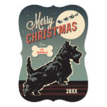 Merry Christmas Scottie 13 Cm X 18 Cm Invitation Card