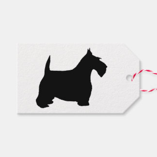 Merry Christmas Scottie Dog Gift Tags