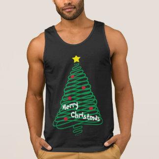 Merry Christmas Scribble Tree Singlet