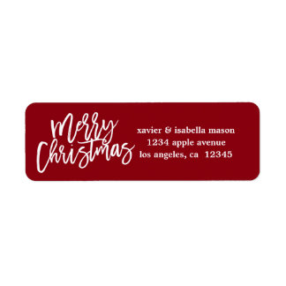 Merry Christmas Script Address Labels